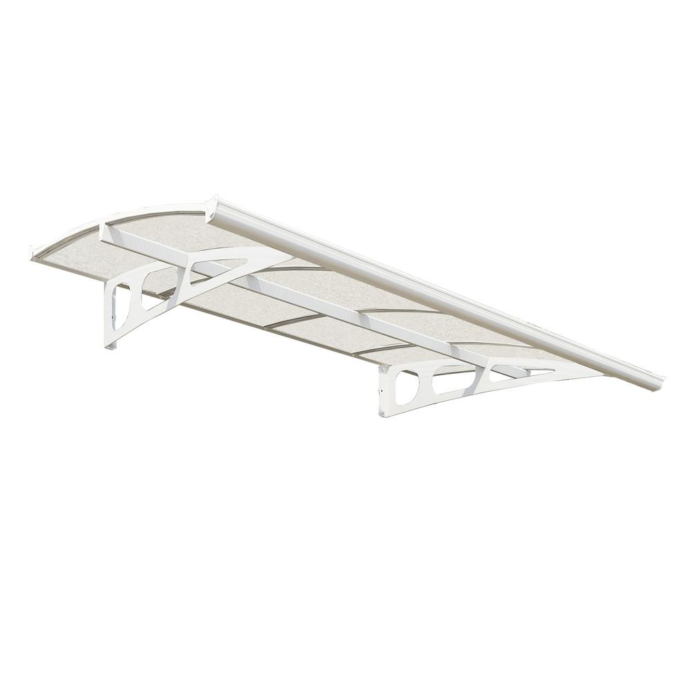 Palram Bordeaux 2230 7 ft. 4 in. (13 in. H x 54.7  sc 1 st  Home Depot & Palram Bordeaux 2230 7 ft. 4 in. (13 in. H x 54.7 in. D) White ...