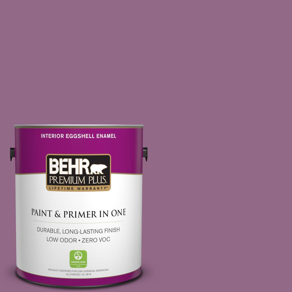 BEHR Premium Plus 1-gal. #680D-6 Lantana Zero VOC Eggshell Enamel Interior Paint