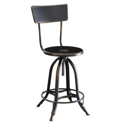 Wyndall Antique Copper 24 in. to 30 in. Adjustable Metal Stool