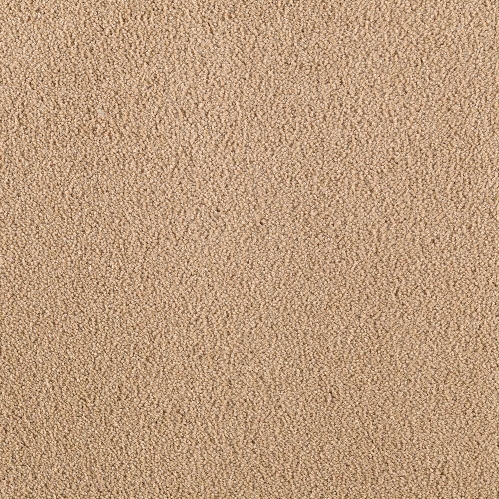 SoftSpring Cashmere II - Color True Khaki Texture 12 ft. Carpet