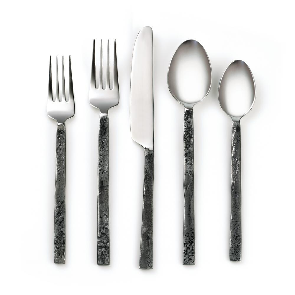Ravina Antiqued 18/8 20-Piece Flatware Set