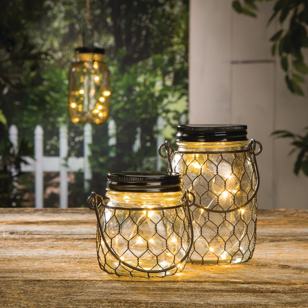 6.9 in. H B/O Clear Mason Jars (Set of 4)