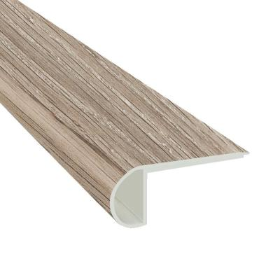 Mystic Gray 3/4 in. Thick x 2 3/4 in. Wide x 94 in. Length Luxury Vinyl Flush Stairnose Molding