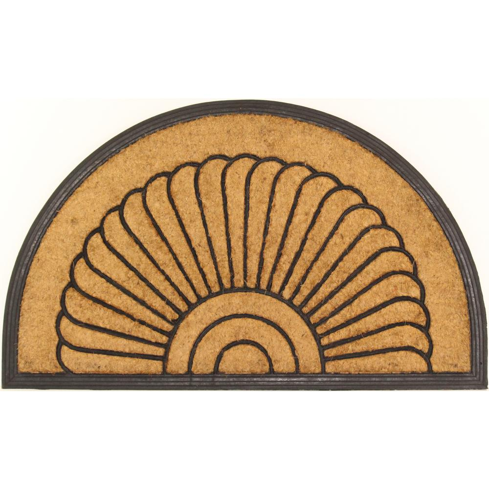 Large Arc du Soleil Tan 30 in. x 18 in. Coir
