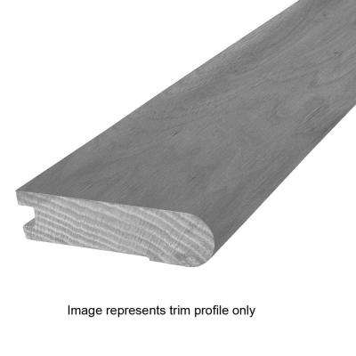 Natural Walnut 0.81 in. Thick x 3 in. Wide x 84 in. Length Flush Stairnose Hardwood Molding