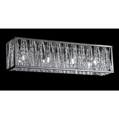Reign 4-Light Chrome Bath Light with Chrome Aluminum Shade