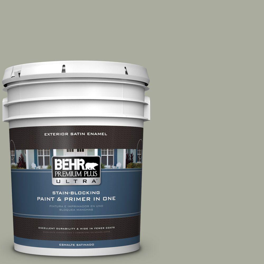 BEHR Premium Plus Ultra 5-gal. #ICC-67 Meditation Satin Enamel Exterior Paint