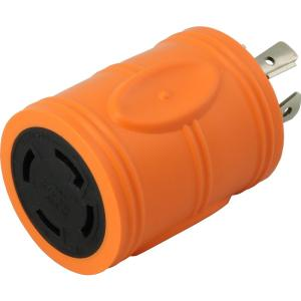 Locking Adapter 20 Amp 4-Prong L14-20P Locking Plug To L14-30R 30 Amp 4-Prong...