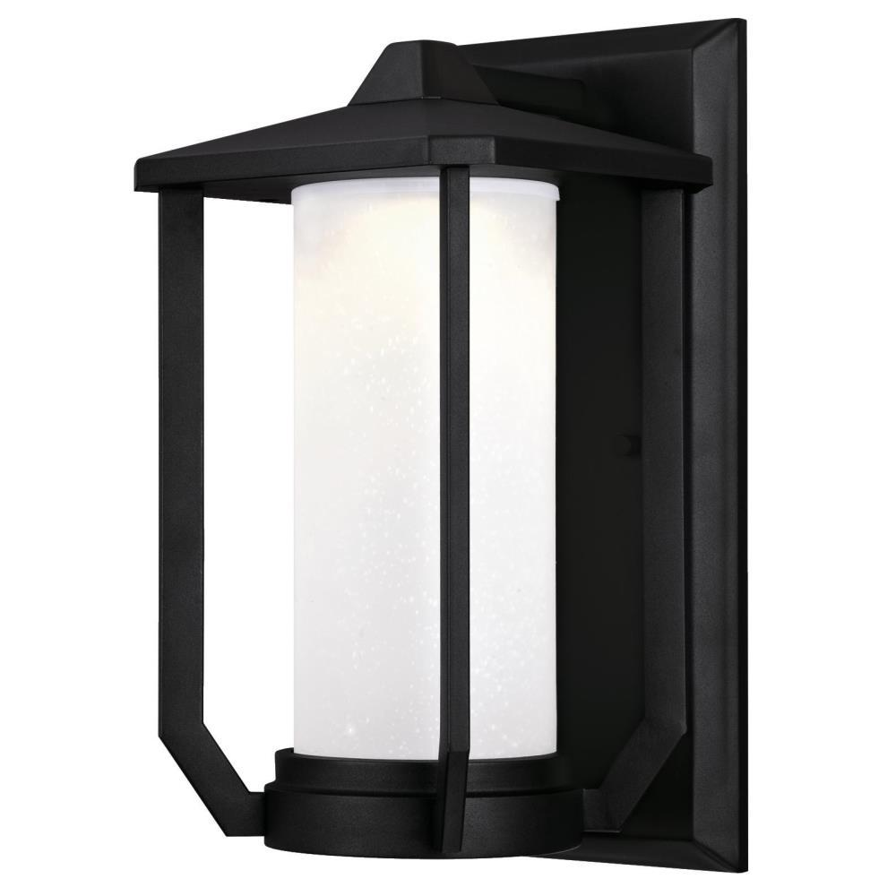 Westinghouse Holloway 1 Light Textured Black Outdoor Integrated Led Wall Mount Lantern 6347400