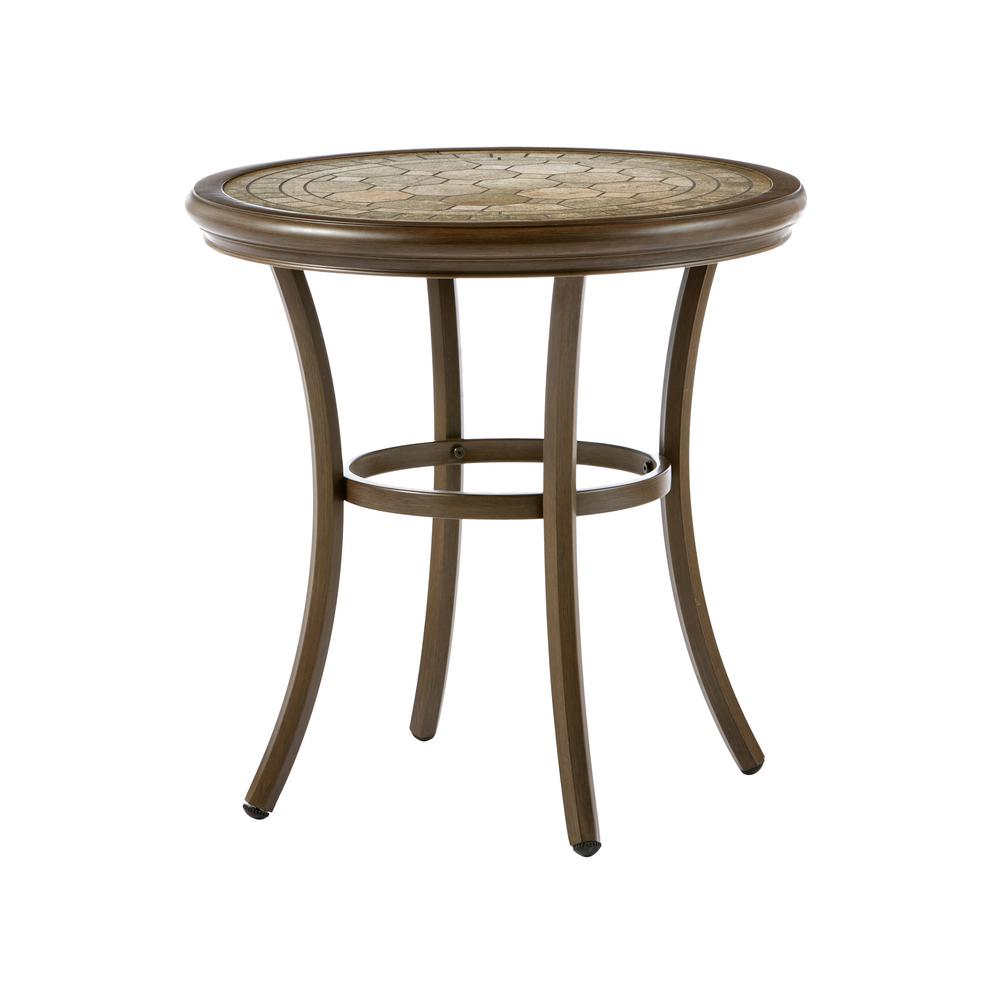 Hampton Bay Walton Springs Aluminum Outdoor Bistro Table 741 707 001