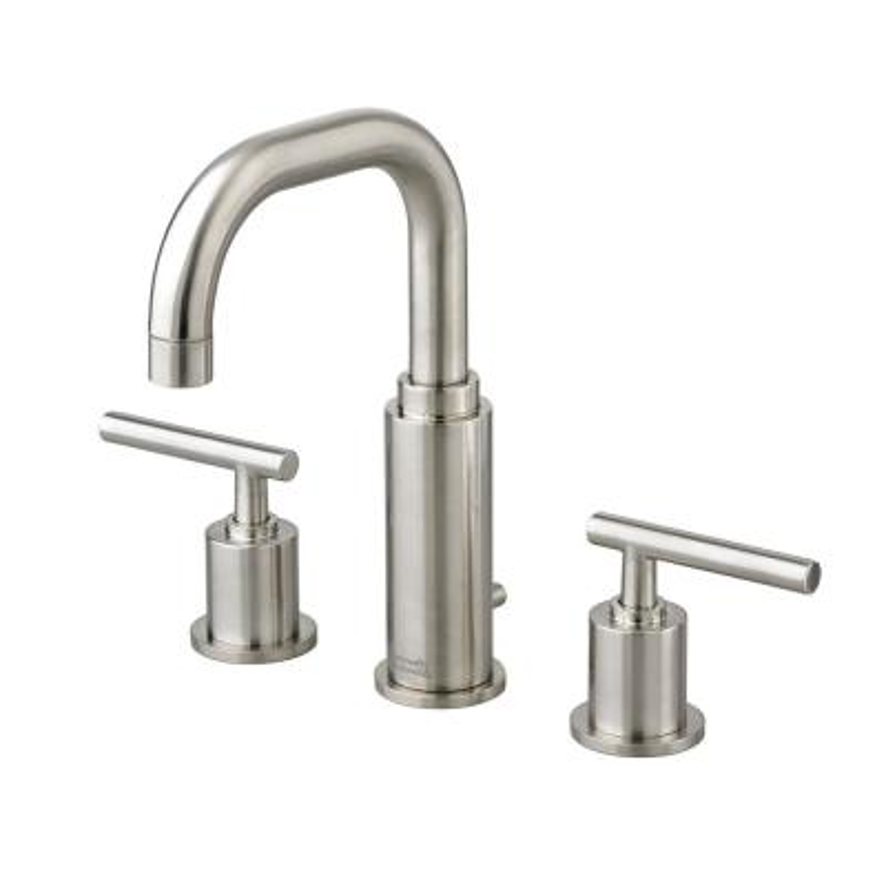 Serin 8 in. Widespread 2-Handle Bathroom Faucet in Brushed Nickel