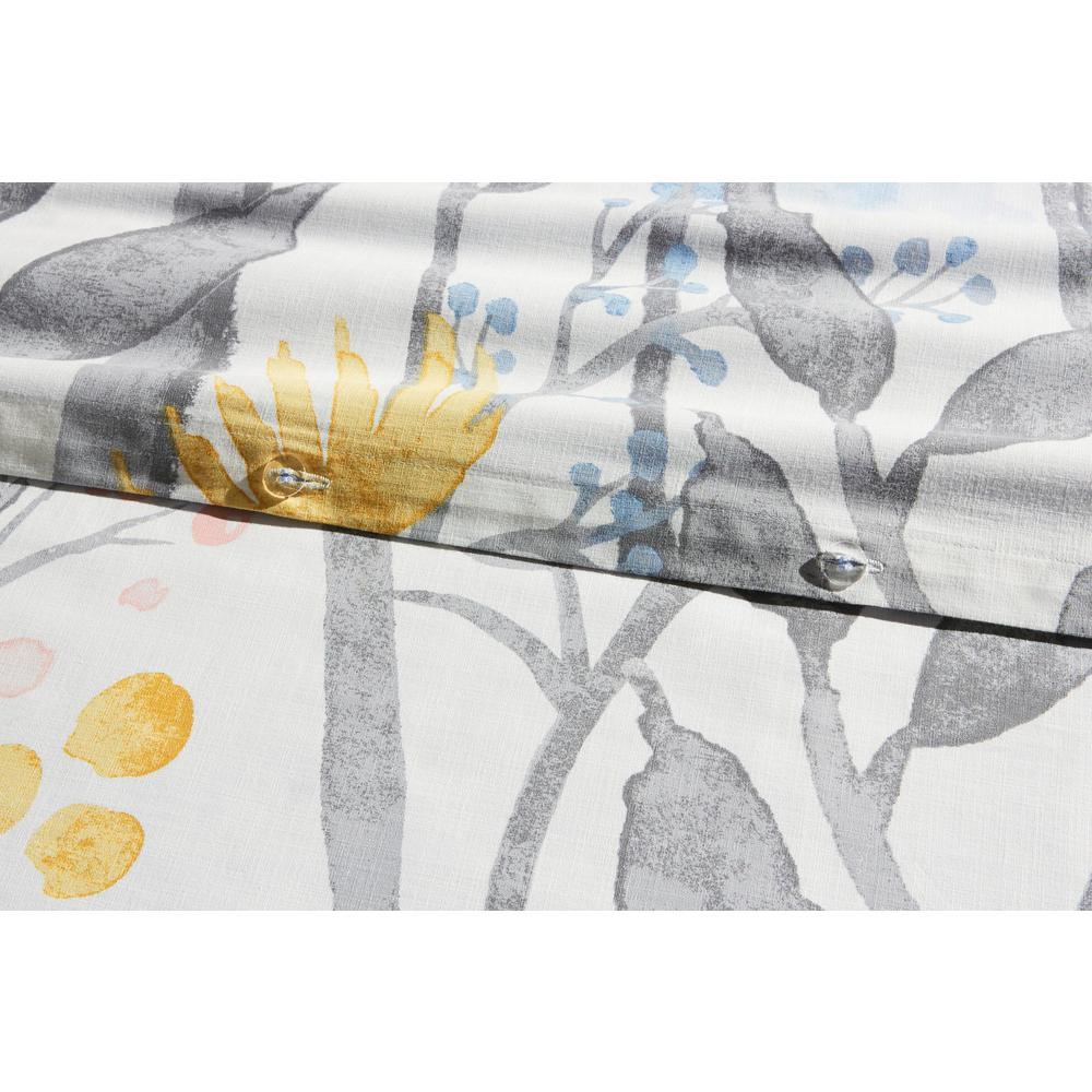 Purcell Washed Denim Botanical Duvet Cover Set