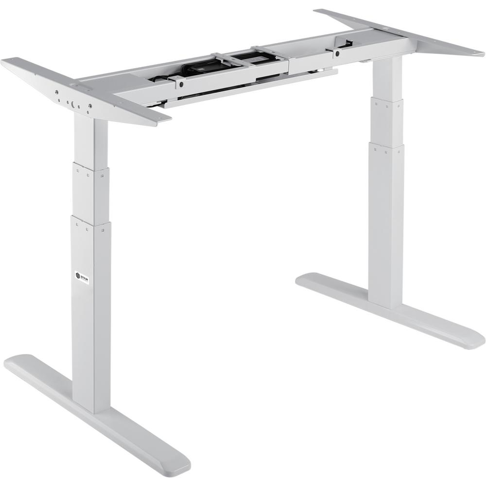 Star Ergonomics Black Electric Sit Stand Desk Frame 3 Stage Dual Motor Table