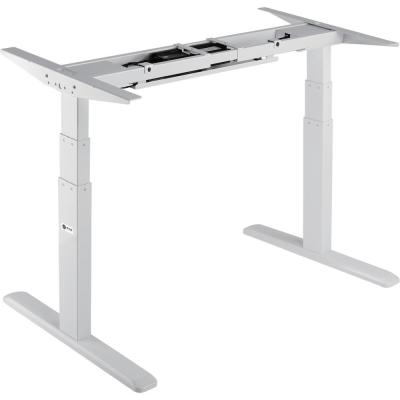 Black Electric Sit-Stand Desk Frame, 3-Stage Dual Motor Table Top Not Included
