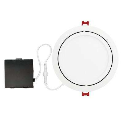 Designer Slim Directional 6 in. White Integrated LED Recessed Kit