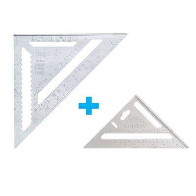 7 in. and 12 in. Aluminum Rafter Square Set