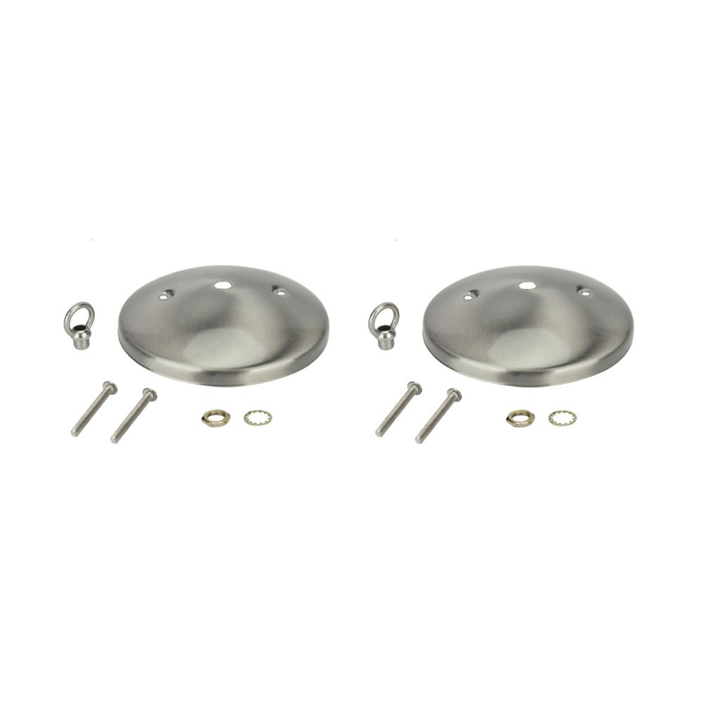Aspen Creative Corporation 5 in. Brushed Nickel Modern Canopy Kit (2-Pack)