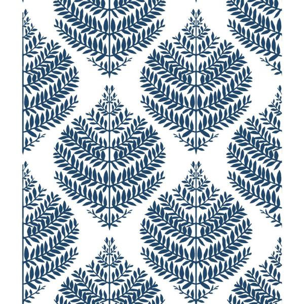 Roommates 28 18 Sq Ft Hygge Fern Damask Peel And Stick Wallpaper Rmk11510wp The Home Depot