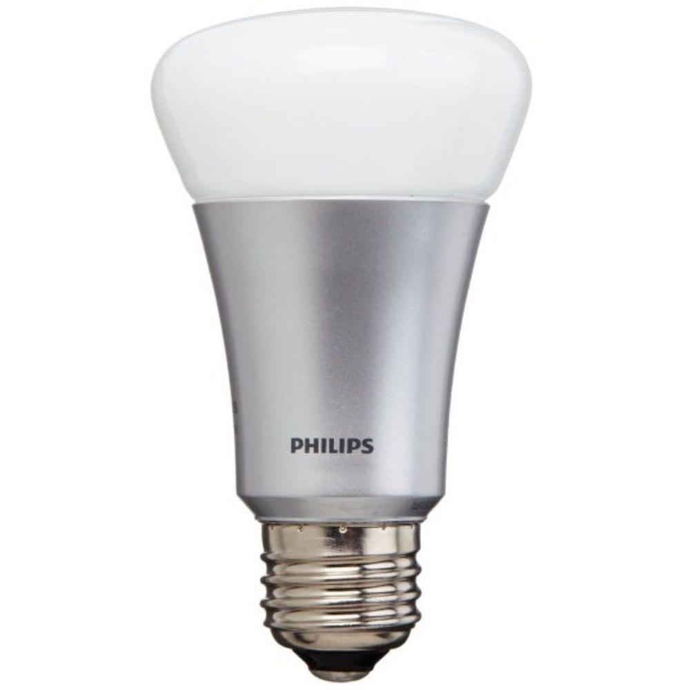 philips hue 60w equivalent a19 single led light bulb 431650 the home depot. Black Bedroom Furniture Sets. Home Design Ideas