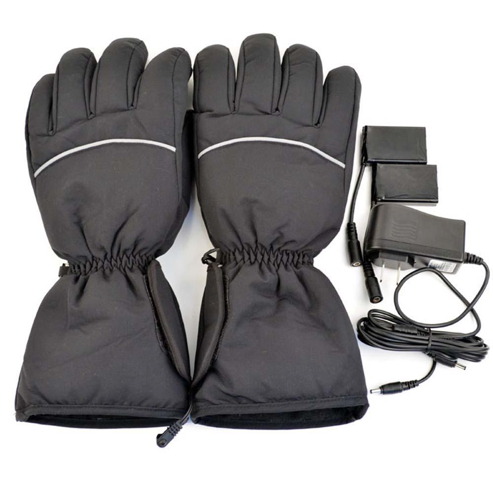 Black Warm Unisex Electric Heated Gloves