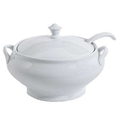 Gracious Dining 12.75 in. White Tureen With Ladle