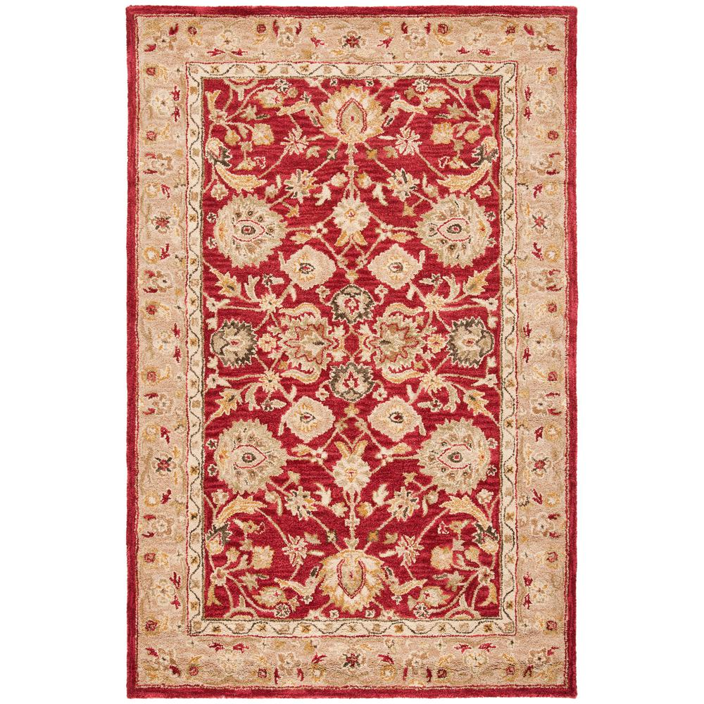 Safavieh Anatolia Red Ivory 9 Ft X 12 Ft Area Rug An522a