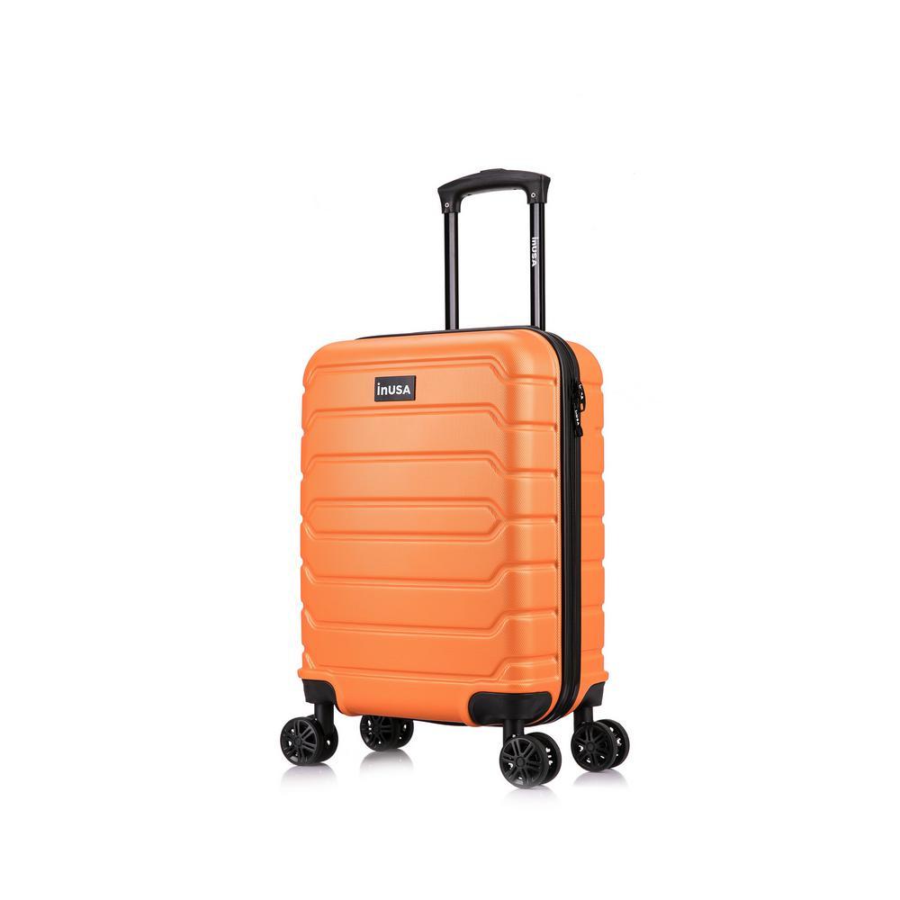 Trend 20 in. Orange Lightweight Hardside Spinner Carry On
