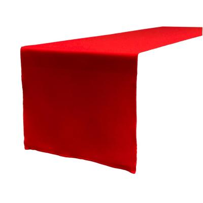 14 in. x 108 in. Red Polyester Poplin Table Runner