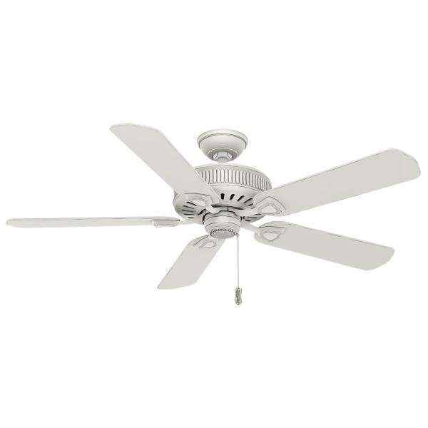 Ainsworth 54 in. Indoor Cottage White Ceiling Fan