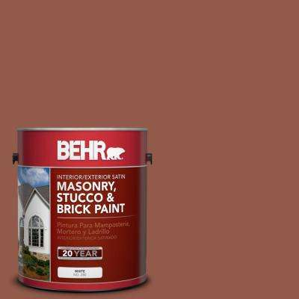 1 gal. #200F-6 Sequoia Grove Satin Interior/Exterior Masonry, Stucco and Brick Paint