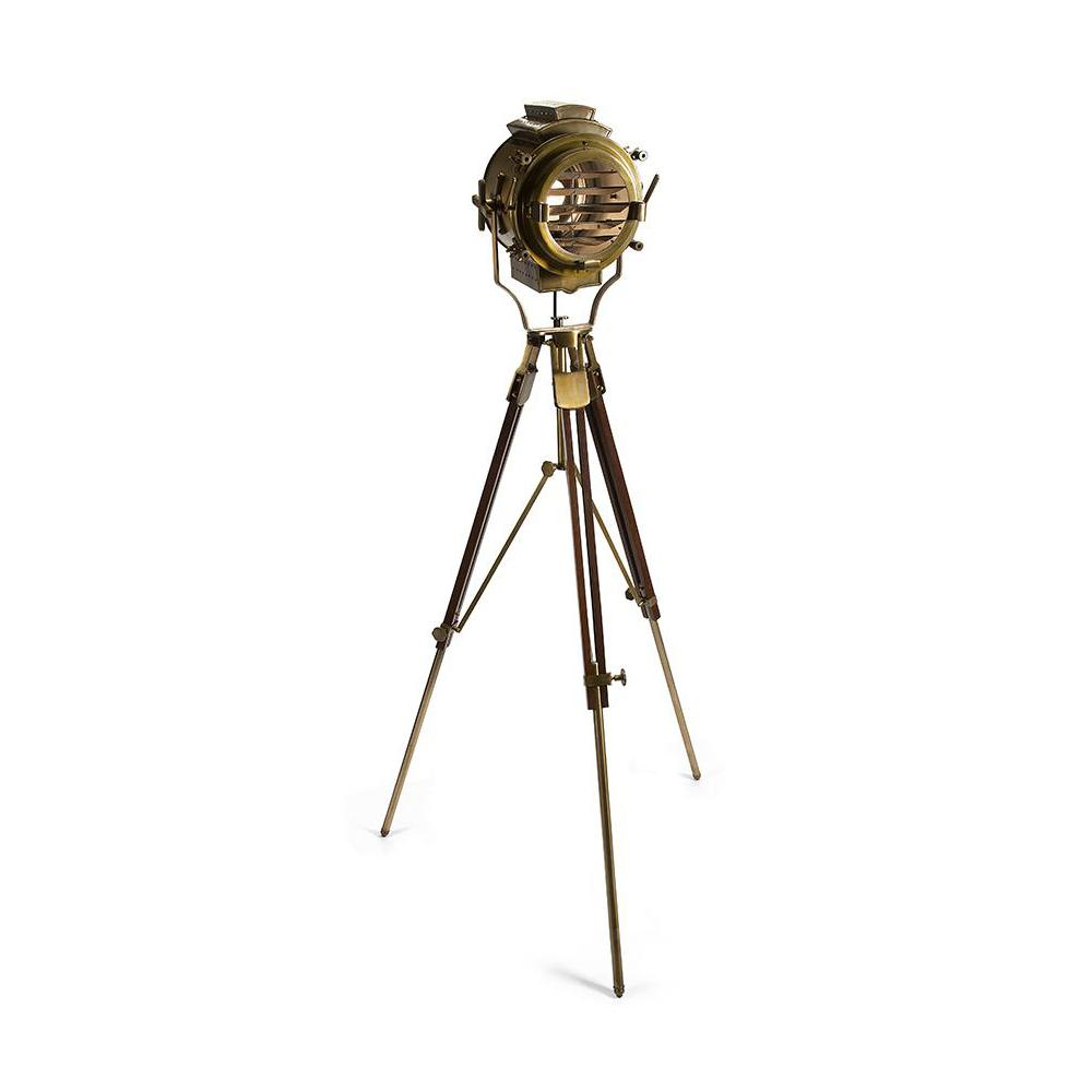 Gold Tripod Floor Lamp