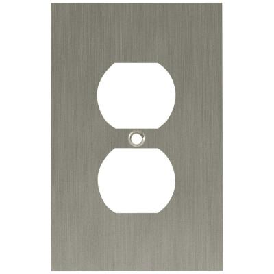 Brushed Nickel 1-Gang Duplex Outlet Wall Plate (1-Pack)