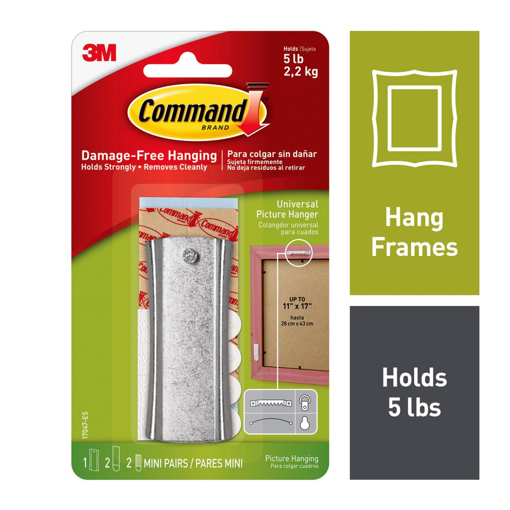 Command 5 Lbs Metal Sticky Nail Sawtooth Picture Hanger