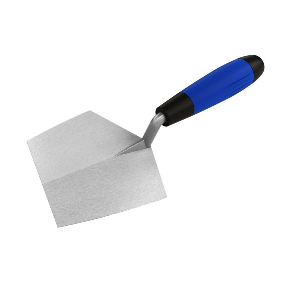 7 in. x 5-1/2 in. Stainless Steel Bucket Trowel with Comfort Grip Handle