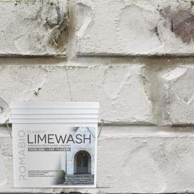 0.67 gal. Cristallo White Limewash Interior/Exterior Paint