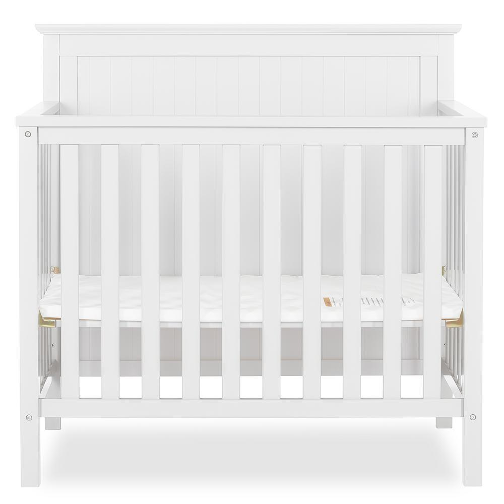 Ava White 4-IN-1 Convertible Mini Crib
