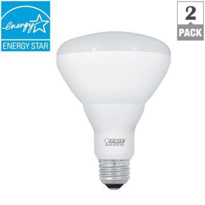 65W Equivalent Soft White (2700K) BR30 Dimmable CEC Title 24 Compliant LED Energy Star Light Bulb (2-Pack)
