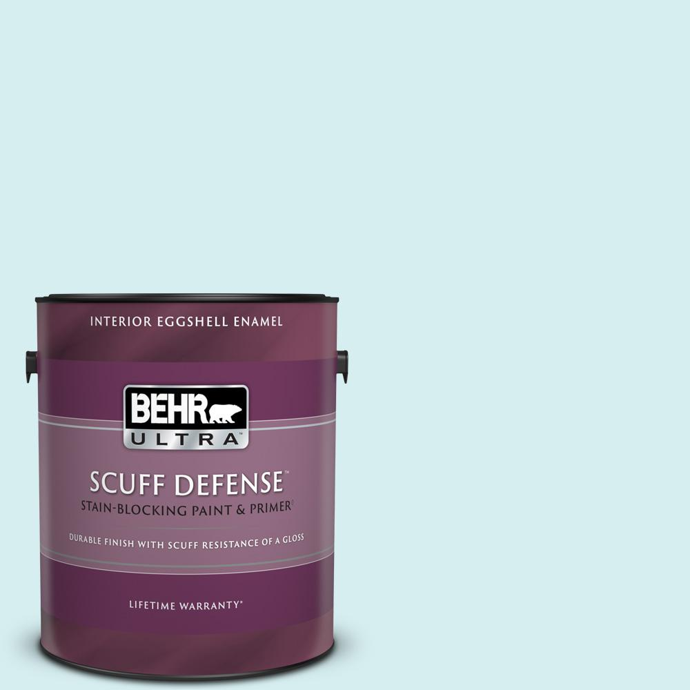 Behr Ultra 1 Gal 520a 1 Lakeside Mist Extra Durable Eggshell Enamel Interior Paint And Primer In One 275001 The Home Depot