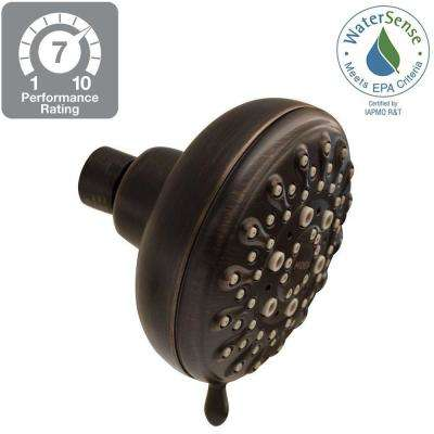Banbury 5-Spray 4 in. Showerhead in Mediterranean Bronze