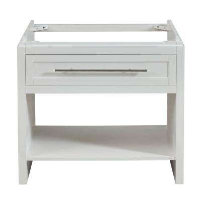 36 in. W x 23 in. D Bath Vanity Cabinet Only in White
