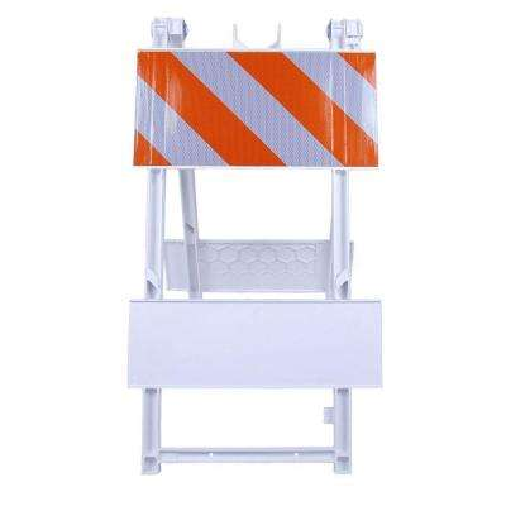 12 in. High-Intensity Sheet Plastic Type I Folding Barricade