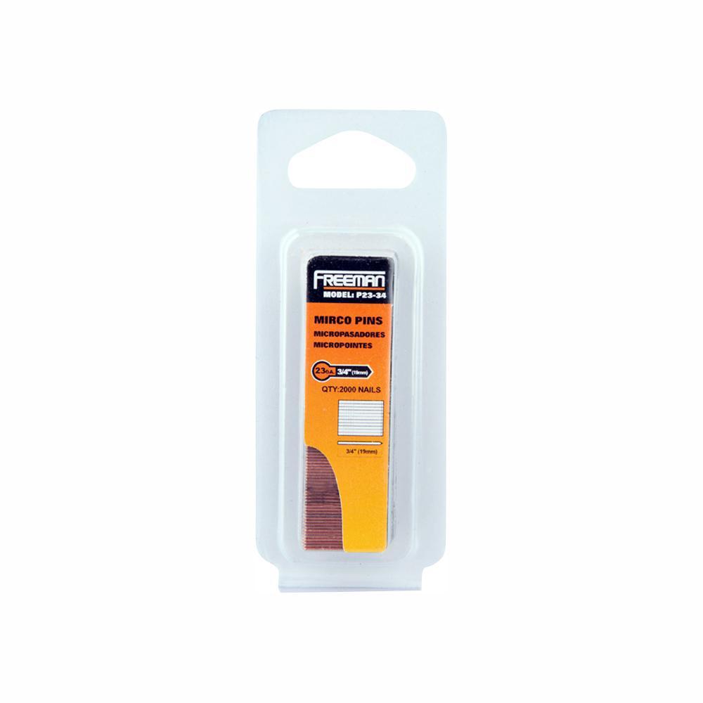 Freeman 3/4 in. 23-Gauge Glue Collated Pin Nail (2000 per Box)