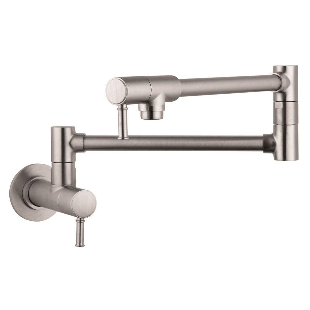 Hansgrohe Talis C Wall-Mounted Potfiller in Steel Optik-04218800 ...
