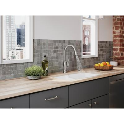 Arsdale Single-Handle Pull-Down Sprayer Kitchen Faucet with Soap/Lotion Dispenser in Vibrant Stainless