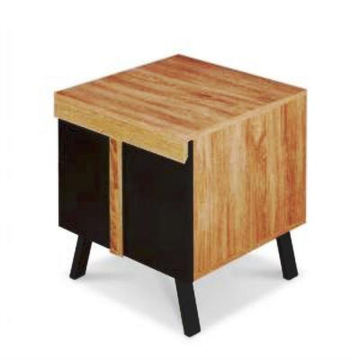 Amelia Rustic Natural Black Wooden Top End Table