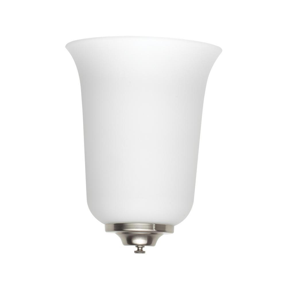 Sea Gull Lighting ADA Wall Sconces Light Brushed Nickel Bath Light - Home depot bathroom lighting sconces