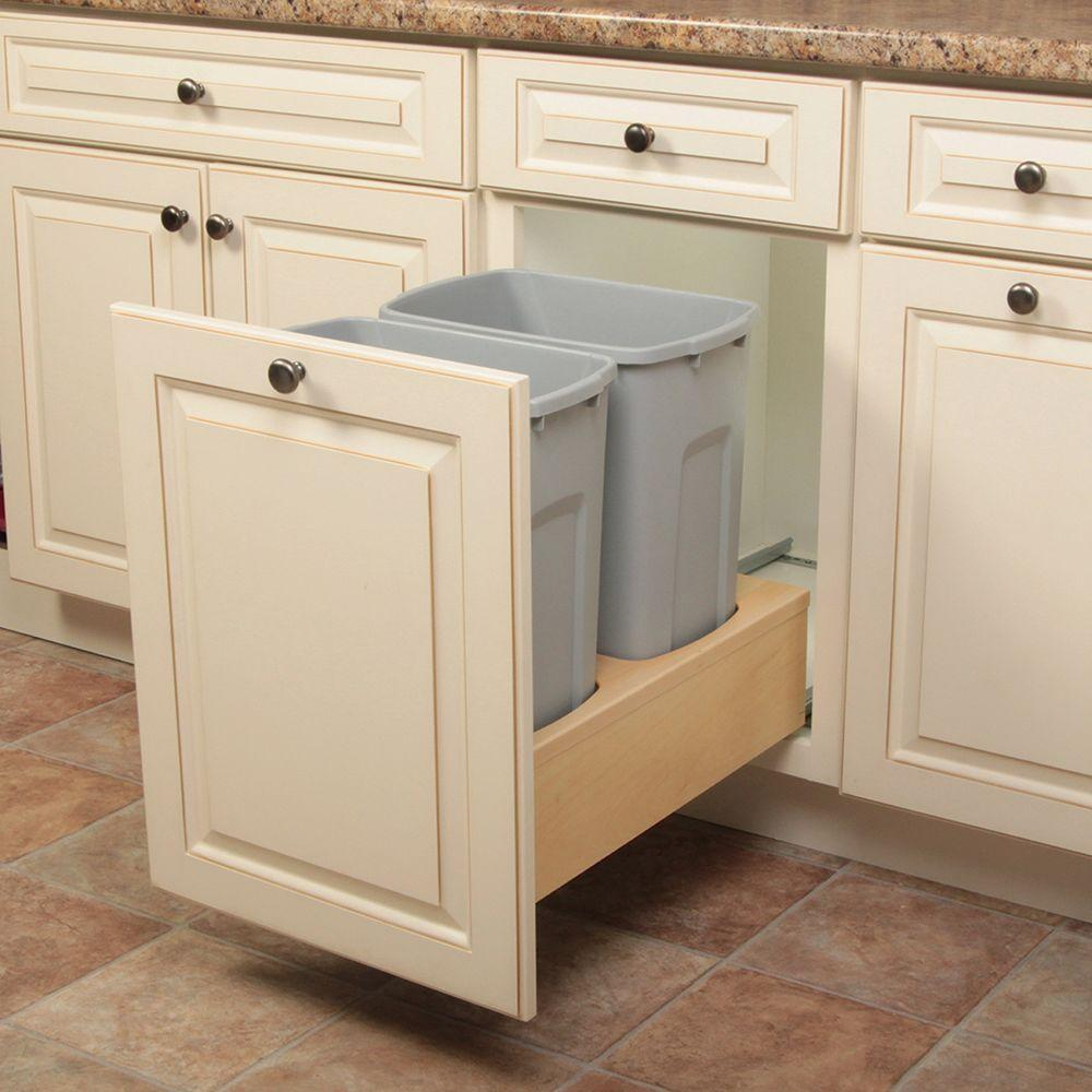 Knape and Vogt 19 in. H x 14 in. W x 23 in. D Wooden 35 Qt ...