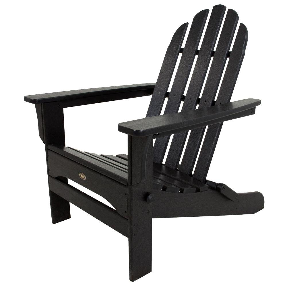 Trex Outdoor Furniture Cape Cod Charcoal Black Folding Plastic Adirondack  Chair - Trex Outdoor Furniture Cape Cod Charcoal Black Folding Plastic