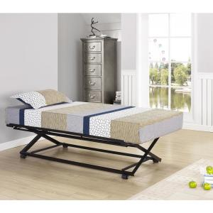 Signature Home Black Twin Size Metal Pop Up Trundle Bed 3