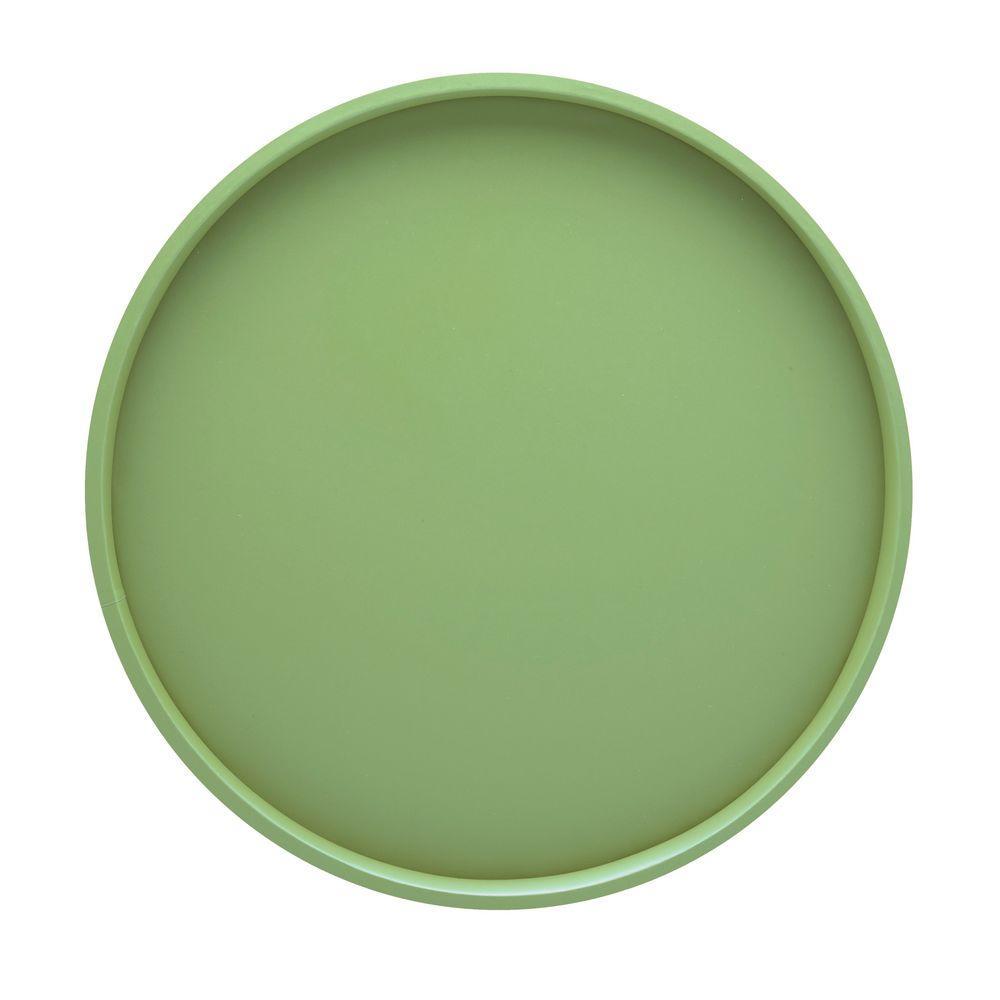 Kraftware 14 in. Round Serving Tray in Mist Green